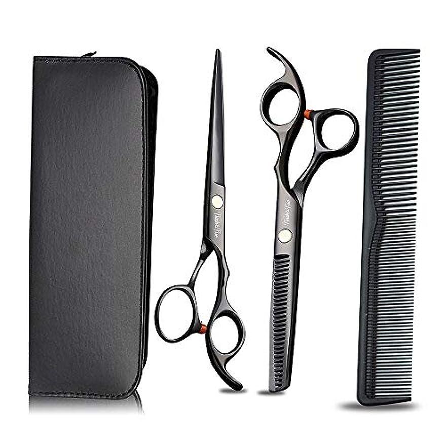 意気揚々決めます抽象プロの理髪はさみと髪の洗練はさみをサロンの理髪店と家庭用に設定、黒