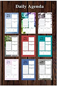 Daily Agenda-Organizer planner for goals-6*9 inch-High quality- Home and office work schedule. interior Color:
