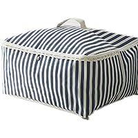 ShuZhuo 布団 収納 ケース 収納袋バッグを動かす大きなコットンポーチ洗濯物仕分けボックス (ブルー) [並行輸入品]