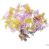Kesoto 2パック 約30g ラブ紙吹雪 ロマンチック 愛 テーブル 紙吹雪 スパークル 散り ウェディング デコレーション