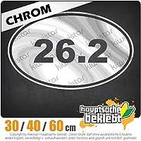26.2 run - 3つのサイズで利用できます 15色 - ネオン+クロム! ステッカービニールオートバイ