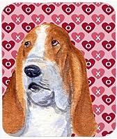 Caroline's Treasures Mouse/Hot Pad/Trivet Basset Hound Hearts Love & Valentine's Day (SS4528MP) [並行輸入品]