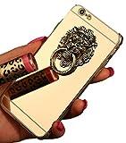ナイキ ジャージ 【JADE Japan】 iPhone6/6s/6Plus/6s Plus/ iPhone7/7 Plus ミラー ライオン リング 付 TUP素材 ソフトケース アイフォンケース(3色) (iPhone6/6s(4.7), ゴールド)