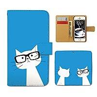 (ティアラ) Tiara AQUOS Xx3 506SH スマホケース 手帳型 ねこ 手帳ケース カバー猫 ネコ ねこ 髭 メガネ E0216010088405