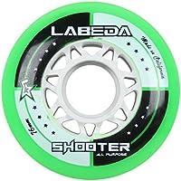 Labeda WheelsインラインローラーホッケーShooterすべて目的グリーン76mm 83a x1