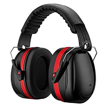 Patech 防音イヤーマフ ヘッドホン 遮音値34dB ANSI S3.19/CE EN352認証済み 軽量 超弾力性 聴覚過敏 噪音対策 大人/子供兼用 レッド
