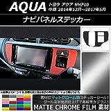 AP ナビパネルステッカー マットクローム調 トヨタ アクア NHP10 中期 2014年12月~2017年05月 シアン AP-MTCR613-CY 入数:1セット(2枚)