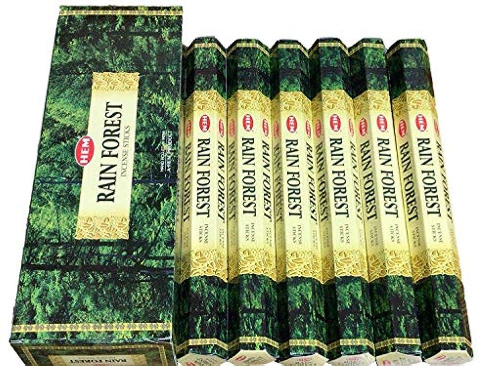 連続的ボタンランドリーHEM お香 レインフォレスト 20本×6箱