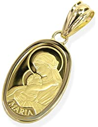 純金コイン(金貨)ペンダント?2.5グラムマリア肖像オーバルフォルム?K24金18金枠 【ギフトラッピング済み】 …