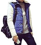 (ハビー)habille【メンズ】 スタジャン風 切替デザイン パーカー ジャケット フードつき ラフ カジュアル ストリート4サイズ展開 【オリジナルノベルティ付】(2XL/ネイビー)