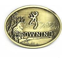 KeCol Mens Deer Hunting Emblem Buckmark Belt Buckle