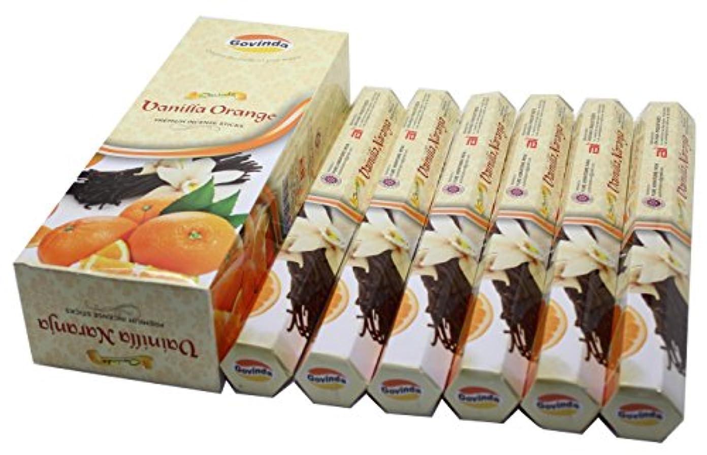 大陸独裁リークGovinda Incense – バニラオレンジ – 120 Incense Sticks、プレミアムIncense、Masalaコーティング