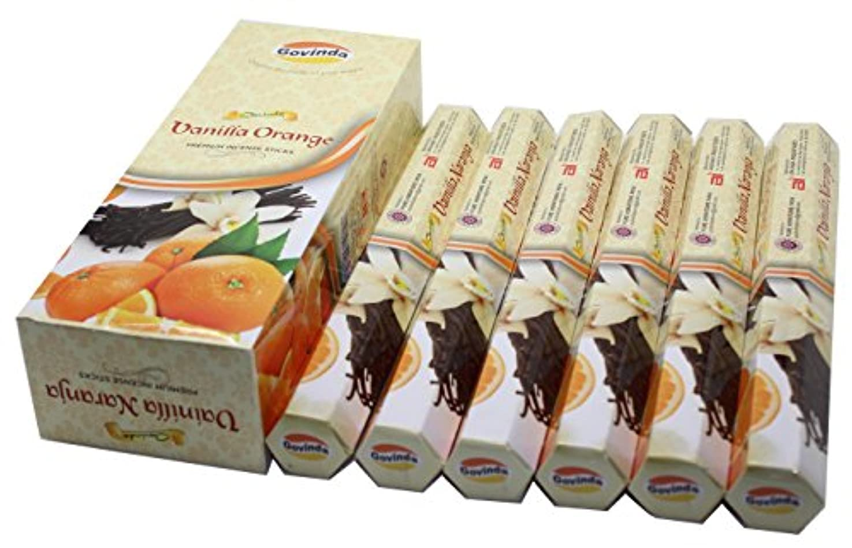 不適切なバブル動くGovinda Incense – バニラオレンジ – 120 Incense Sticks、プレミアムIncense、Masalaコーティング