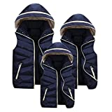 親子お揃い服 Mangjiu レディース ベスト ダウン ジャケット 袖なしの胴着 超軽量 防寒防風 シンプル 柔らか (ネイビーブルー, 2XL)