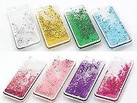 iPhone 6(4.7)専用キラキラ流れ星クリアケース(液晶保護フィルム)シューティングスター au docomo softbank (イエロー)