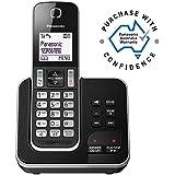 Panasonic KX-TGD320ALB Digital DECT Cordless Phone & Answering System with 1 Handset, Black