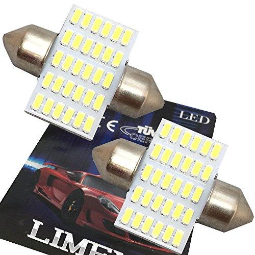 (ライミー)LIMEY 業界初! 爆光 最新 T10×31mm LED ホワイト 白 30連 ルームランプ 驚きの明るさ 6500K 12-24V対応 2個入り 【取扱説明書&保証書付き】 L-T1030R31