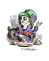 """(13cm x 18cm) -""""The Mad Hatter"""", A Colourized Fine Art Print from Classic Children's Book,""""Alice's Adventure in Wonderland"""" (1865), by Lewis Carroll (13cm x 18cm)"""