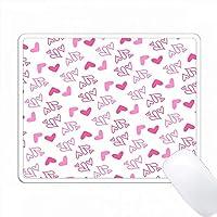 かわいいピンクの混乱した心のパターン PC Mouse Pad パソコン マウスパッド