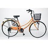 21Technology 26インチ自転車ママチャリ MC266 シマノ製6段ギア付き