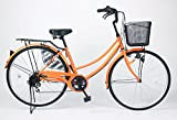21Technology 26インチ自転車ママチャリ MC266 シマノ製6段ギア付き (オレンジ)