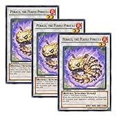 ★ 3枚セット ★遊戯王 英語版 SHSP-EN057 Puralis, the Purple Pyrotile 焔紫竜ピュラリス (レア) 1st Edition