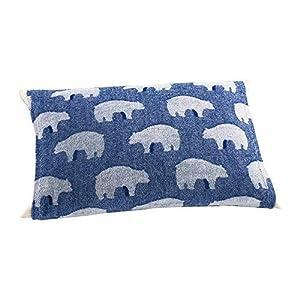 (セシール)cecile 寝装・寝具小物 のびのびパイル枕カバー(抗菌防臭) L(シロクマ/ブルー) 横約50~63cm、縦約35~43cm CR-956 CR-956