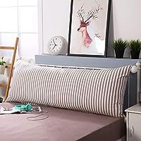 ソファ ベッドウェッジクッション 枕,ソフト布張り ベッド読書枕カバー 臥床枕 洗浄綿 腰椎パッド 長いダブルのベッドの枕-a 150x55cm(59x22inch)