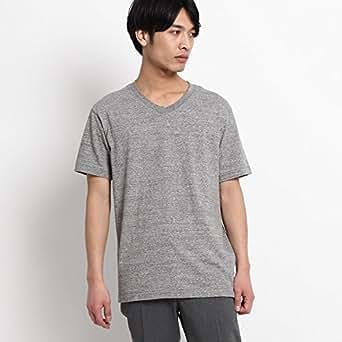 (ドレステリア) DRESSTERIOR ◆ラフィー天竺 VネックTシャツ 08634505 92(L) ダークグレー(213)