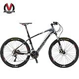 SAVADECK DECK300 マウンテンバイク 炭素繊維 26インチ 完全なハードテール MTB自転車 シマノ30段変速 M610 DEORE (グレー)