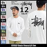 (ステューシー) STUSSY Tシャツ 長袖 メンズ Basic Stussy サイズXL ホワイト/ブラック [並行輸入品]