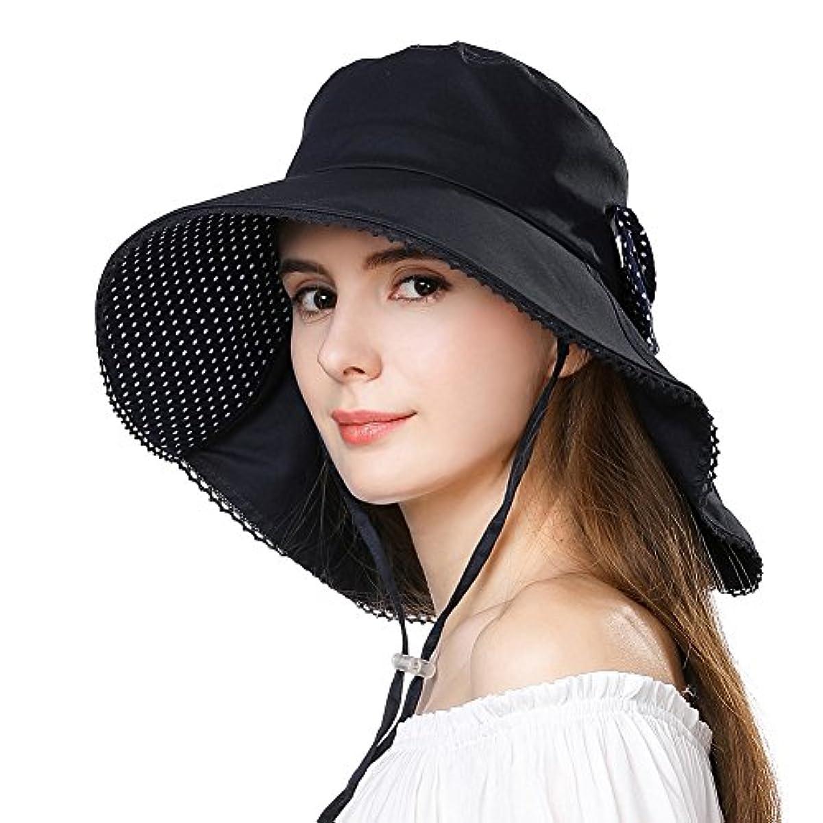 fancet Packable Sun Hat for Womenハイキングサファリガーデニングビーチアクセサリー釣りSPF
