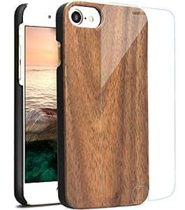 爽やかなiPhone7木ケース iPhone7ガラスフィルム 落ち着いた天然木製アイフォン7カバー 手触り良いiPhone7ハードケース