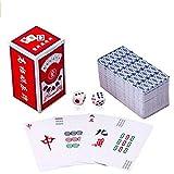 (イスイ) YISHUI 高級感のある 透明 麻雀 牌 カード 静かに どこでもできる ポータブル おしゃれ で 本場 なトランプ サイズ 麻雀 牌 サイコロ
