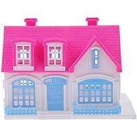 Dovewill プラスチック製 ランダム色 リアルライフ ミニ ドールハウス ヴィラ 別荘 12インチバービー人形用