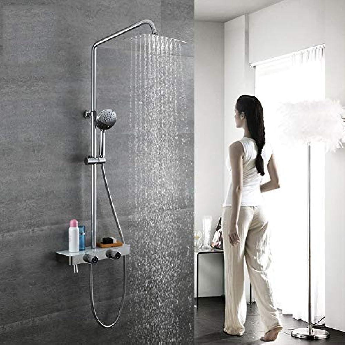 降ろす溶岩展示会シャワーシステム、浴室シャワーミキサーセット3機能降雨シャワーセットラウンドスタイルシャワーヘッドセット304ステンレス鋼レインシャワーシステム