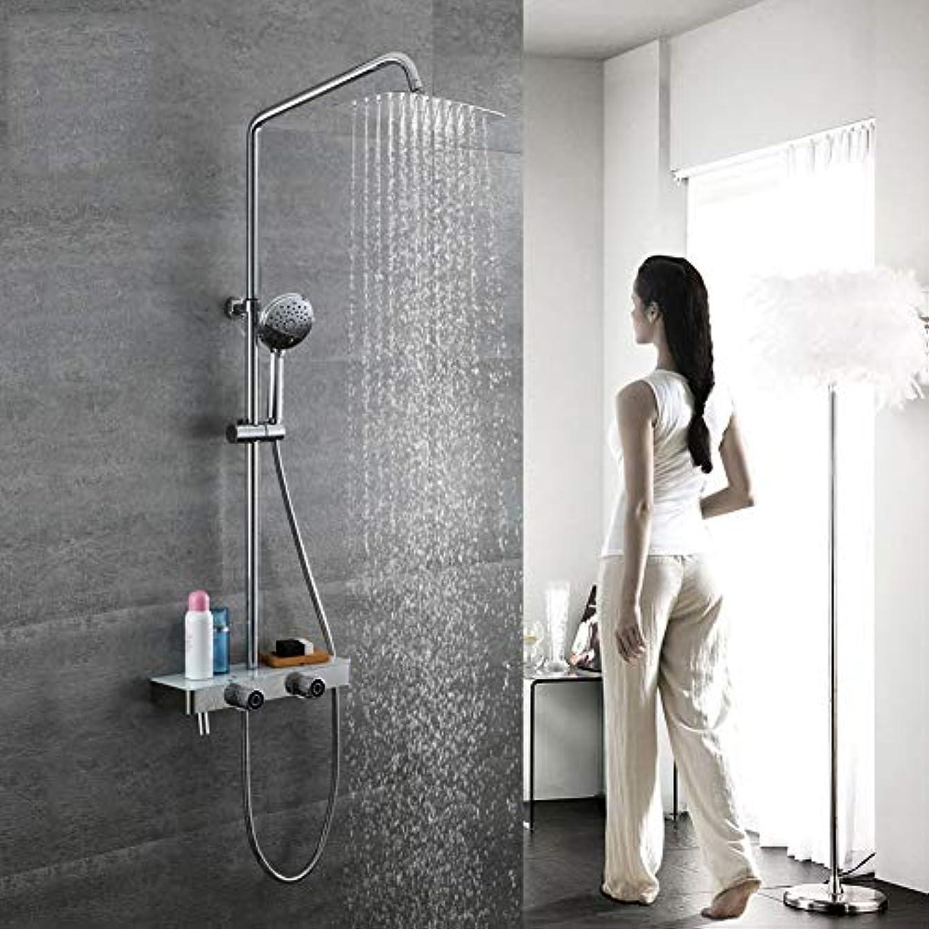 債権者オートメーション木曜日シャワーシステム、浴室シャワーミキサーセット3機能降雨シャワーセットラウンドスタイルシャワーヘッドセット304ステンレス鋼レインシャワーシステム