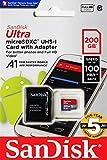 microSDXC 200GB SanDisk サンディスク UHS-1 超高速U1 FULL HD アプリ最適化 Rated A1対応 専用SDアダプ付 【5年保証】 [並行輸入品]