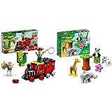 レゴ(LEGO) デュプロ トイ・ストーリー・トレイン 10894 ディズニー ブロック おもちゃ 女の子 男の子 電車 &  デュプロ 世界のどうぶつ どうぶつの赤ちゃん 10904 知育玩具 ブロック おもちゃ 女の子 男の子【セット買い】