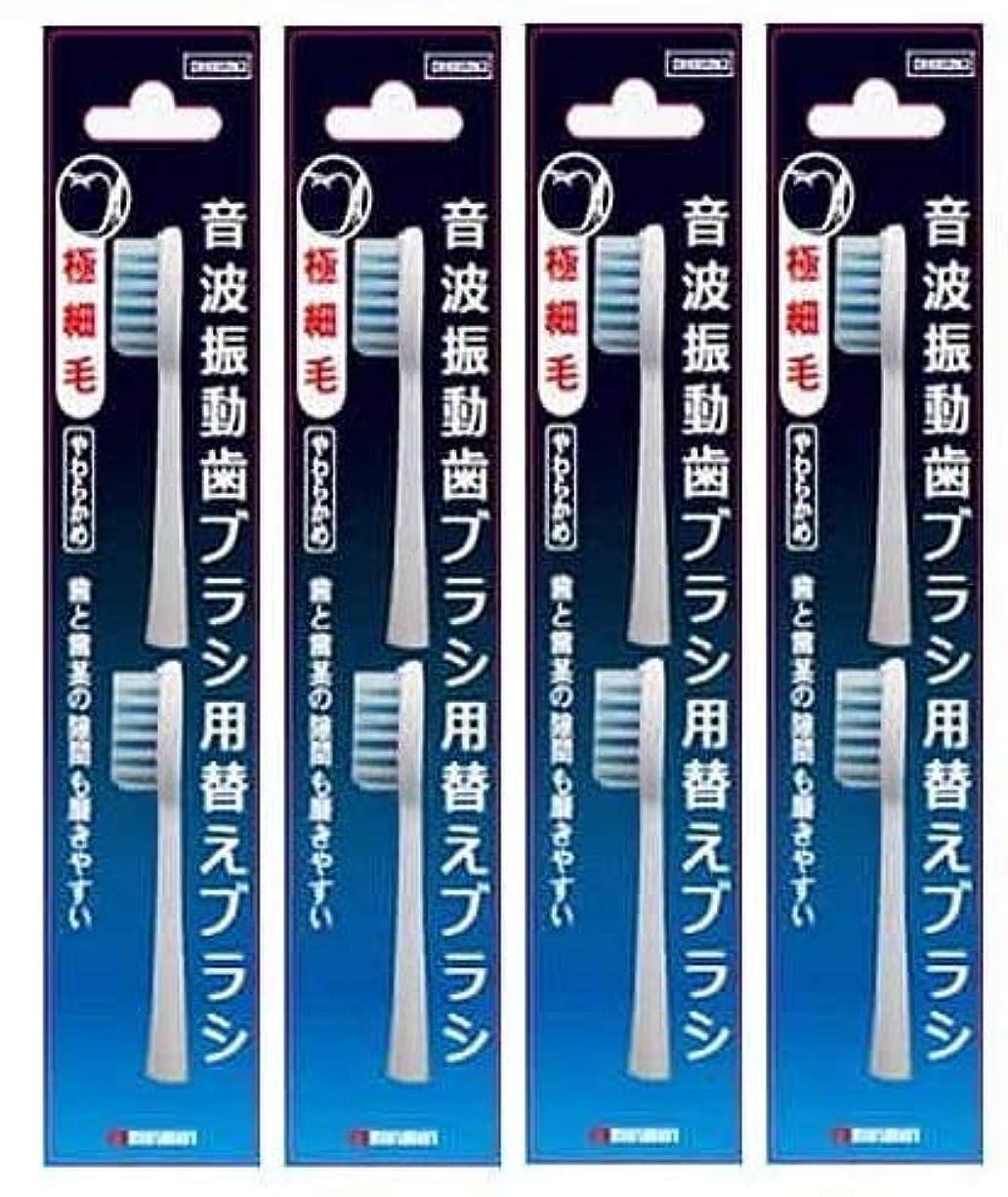 ほのめかす罹患率専門知識マルマン 電動歯ブラシ ミニモ/プロソニック1/プロソニック2/プロソニック3 対応 替えブラシ 極細毛 2本組 DK002N2 4個セット
