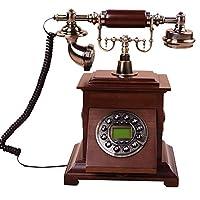 Edge To デジタル電話 ヨーロッパのハイグレード木材アンティーク電話機アメリカの牧歌レトロヴィンテージファッション創造的なホームオフィスの電話