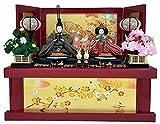 雛人形 収納飾り 芥子親王 朱赤塗り収納台セット【雛人形】
