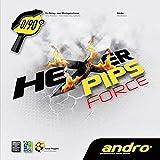 andro(アンドロ) 卓球 ラバー テンション系 表ソフトラバー ヘキサーピップスフォース 112274 レッド 1.9