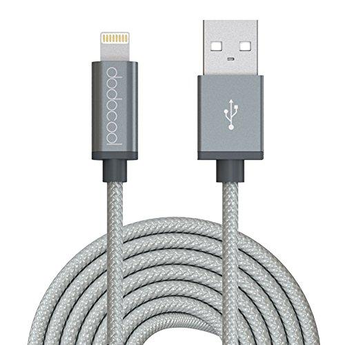 dodocool 【Apple認証】ライトニングUSBケーブル iPhone /iPad / iPod 等のApple製品に対応 3m (グレー)