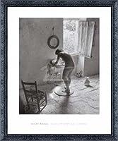 ポスター ウィリー ロニス Le nu provencal Gordes 1949 額装品 デコラティブフレーム(ブラック)