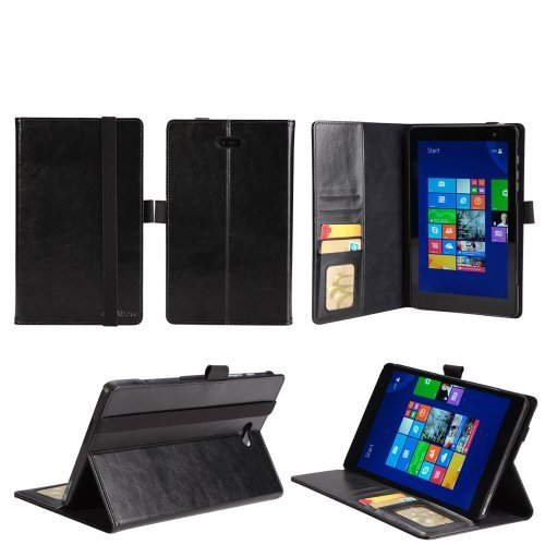 AceAbove SlimBook PU Leather Folio Stand Case for Dell Venue 8 Pro 32 GB 64 GB Tablet (Windows 8.1) Black (3 Year Manufacturer Warranty From AceAbove) by AceAbove [並行輸入品]