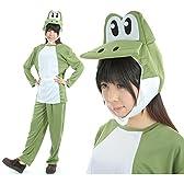 【gioiellante】でっていう! かわいい 緑の恐竜 コスプレ ハロウィン 衣装 (緑)