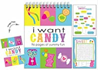 [iscream]iscream I Want Candy 96page Activity Book with Picture Changing Cover 744-146 [並行輸入品]