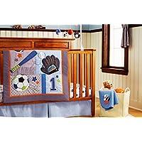 Baby Boy 7 Pieces Baby BoyスポーツCrib Bedding Set with Changing Padカバーwithoutバンパーパッド)