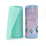 MsFun Disposable Dish Cloths Cleaning Towel Kitchen Rag Multi-Functional Household Cleaner Dry/Wet Oil Wash Cloth no Paper Towel